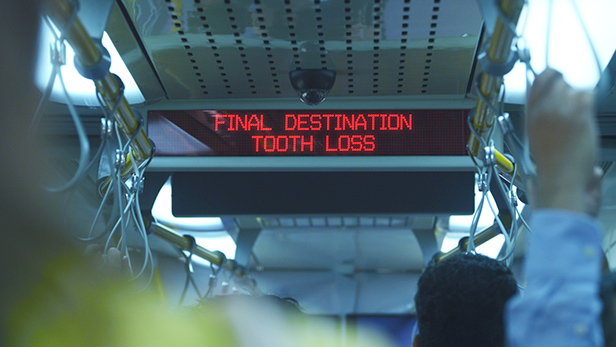 Sign that reads 'Final Destination Tooth Loss'